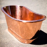 Delivered Double slipper solid copper bath $4850