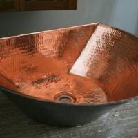 Copper basin half moon