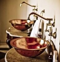 Client installation 2010 copper bath tiered base single slipper