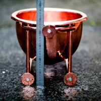 Copper basin and support available in copper nickel and brass