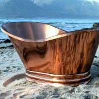 Single slipper solid copper bath