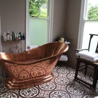 Client installation 2010 copper bath tiered base single slipper