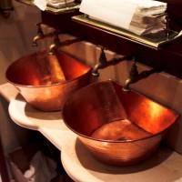 copper basin installation in busy restaurant
