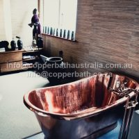 British Empire copper bath installation