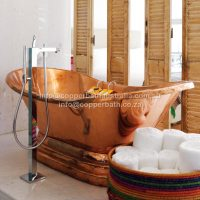 Molori copper bath installation Clifton