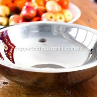 Nickel plated double wall basin