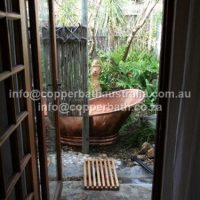 Garden copper bath installation