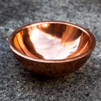 Copper basin double wall oblique 34 cm