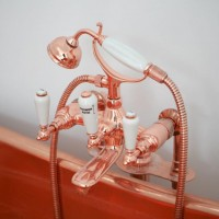 Mixer bath copper heavy pattern wall or standpipe