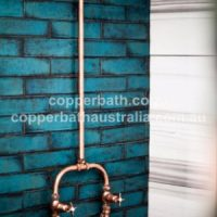 Copper shower and rose