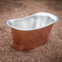 Copper bath with tin inner