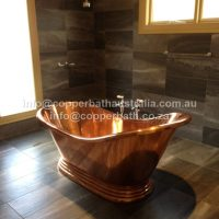 Janes Melbourne copper bath installation