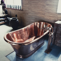 Copper bath Fresnaye installation