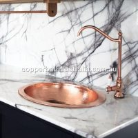 Copper prep bowl swivel spout