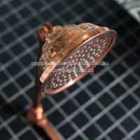 SR 002 Shower rose in brass or copper 165mm
