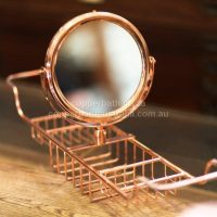 BT 001 Bath tidy with convex mirror available in copper nickel brass. $385
