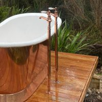 stand pipes bathroom copper nickel