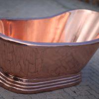 copper bath single slipper solid