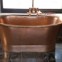 modern bathroom copper bath installation